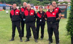 El equipo de DN responsable de la seguridad del Concurso de Saltos Internacional de Santander